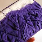 Purple Bridal Wedding Clutch or Bri..