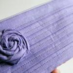 Romantic Rose pleats in purple lila..
