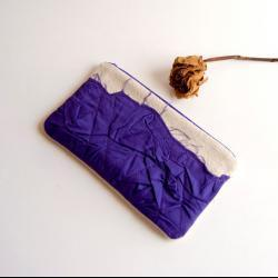 Purple Bridal Wedding Clutch or Bridesmaid Clutch, Pouch, Purse - Crazy Lola pleats by Lolos